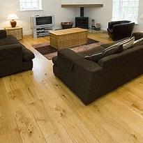hardwood floor freshly polished and sanded