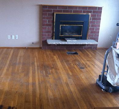 Finished floor after floor sanding in London