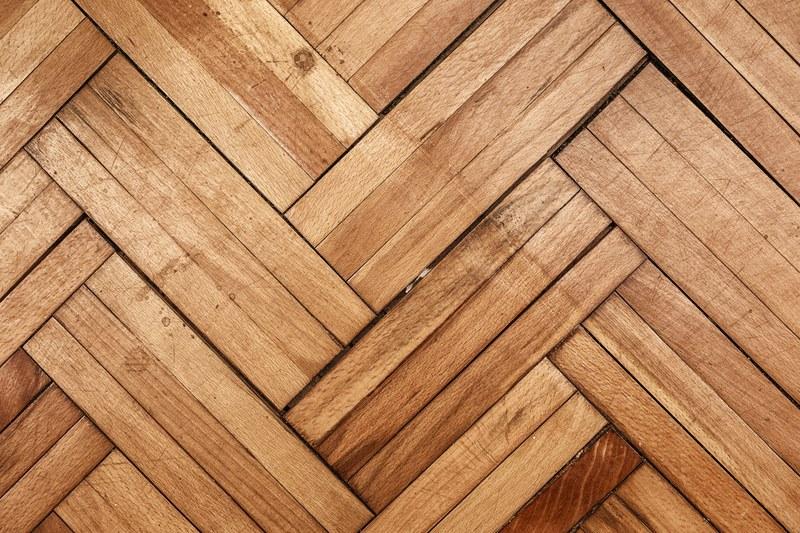 damaged parquet wooden floor